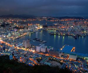 south korea and busan harbor image