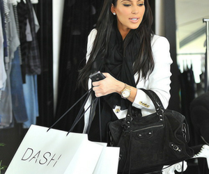 kim kardashian, dash, and shopping image