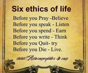 quotes, life, and ethics image