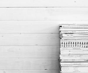 magazine and white image