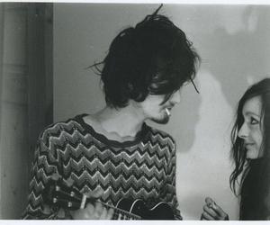 couple, boy, and cigarette image