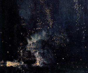 art, painting, and night image