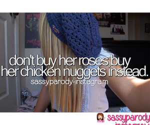 girl, nuggets, and cute image