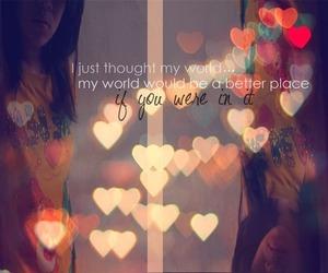 girl, heart, and light image