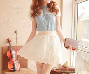 korean, skirt, and ulzzang image