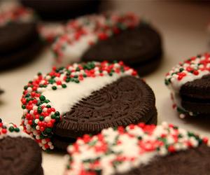 oreo, food, and christmas image