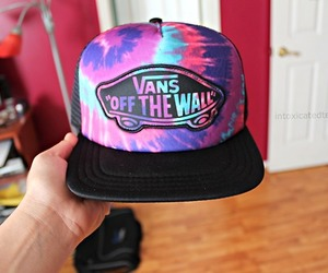 vans, cool, and hat image
