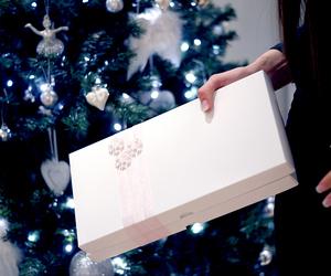 christmas tree, gift, and giftbox image