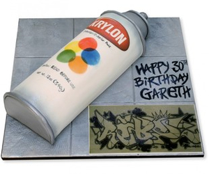 cake, spraypaint, and yummy image