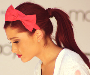 ariana grande, ariana, and bow image