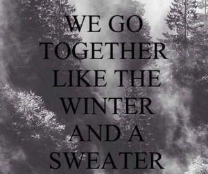 winter, sweater, and together image