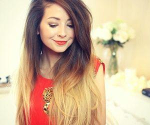 girl, hair, and zoella image