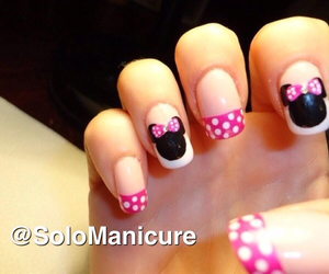 minnie, pink, and nails image