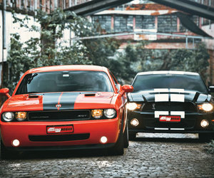 cars, muscle car, and dodge challenger srt8 image