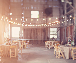 barn and dinner set up image