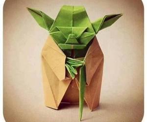 yoda, origami, and star wars image