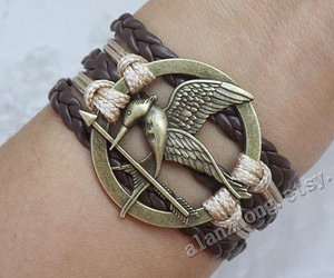 catching fire, leather bracelet, and hipster jewelry image