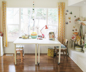 decor, eclectic, and table image