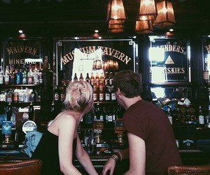 beer, couple, and film image