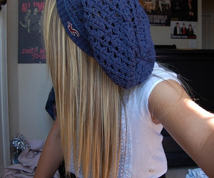 hair, blonde, and hollister image