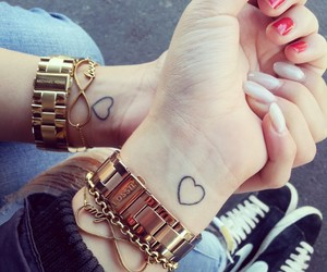 heart, friends, and forever image