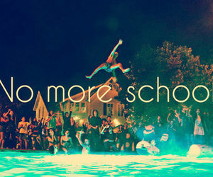 school, party, and summer image