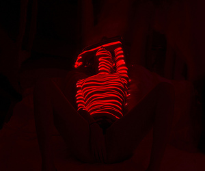 red and glow image