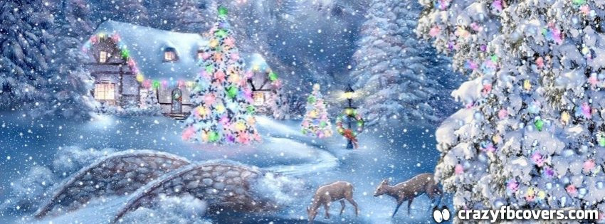 Beautiful Country Christmas Scene Facebook Cover - CrazyFbCovers.com ...
