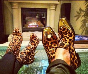shoes, couple, and leopard image