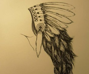drawing, feathers, and freedom image