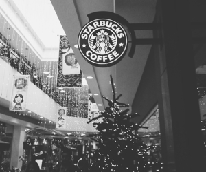 black, christmas, and starbucks image