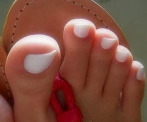 nails, white, and toes image