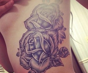 tattoo, flowers, and roses image