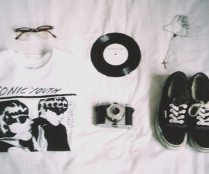 sonic youth, vans, and vintage image