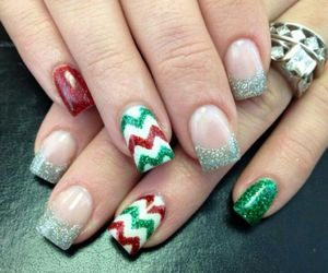 christmas nails, would do, and cute image