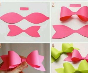 bow, diy, and simple image