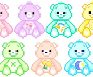 kawaii, pastel, and pixel image