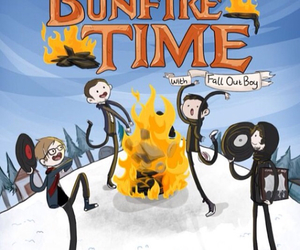 fall out boy, adventure time, and FOB image