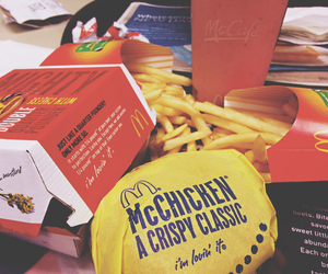 fries, hungry, and McDonalds image