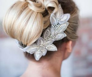 hair, beauty, and wedding image