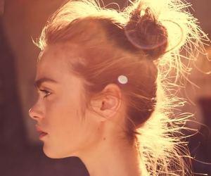 beautiful, bun, and cute girl image