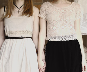 clothes, fashion, and friend image