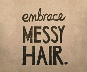hair, embrace, and messy image