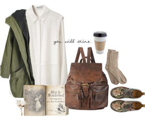 backpack, beautiful, and coat image