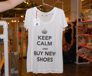 keep calm, shoes, and t-shirt image