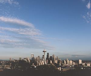 city, sky, and blue image