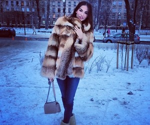 fur, girl, and ugg image