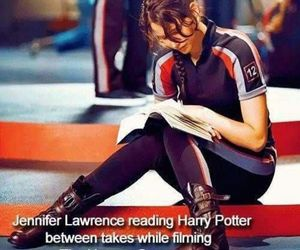 book, harry potter, and Jennifer Lawrence image