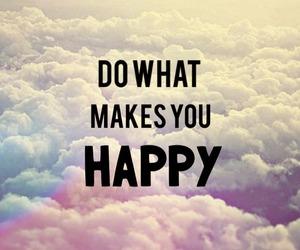 happy, quotes, and clouds image