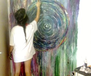 art, hipster, and paint image
